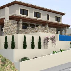 Villa With Stone Finishes And An Amazing View