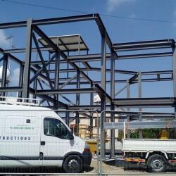 Construction Of A Steel Frame House In Latsia