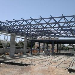 Steel Construction Of A Restaurant In Strovolos
