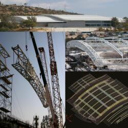 Steel Structure For Spyrou Kyprianou Sports Hall In Limassol